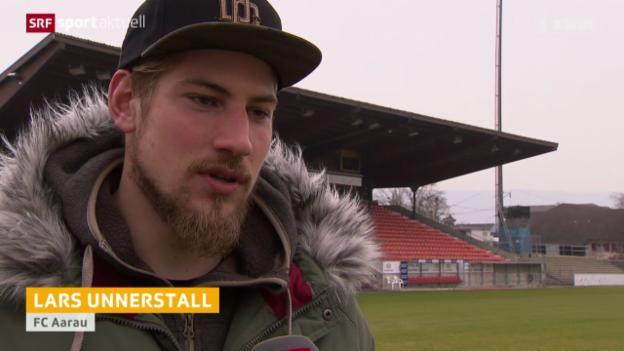 Video «Fussball: Lars Unnerstall bei Aarau» abspielen
