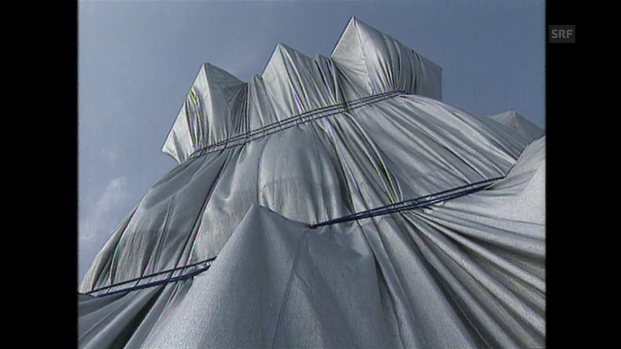 Verhüllter Reichstag (Tagesschau, 6.7.1995)