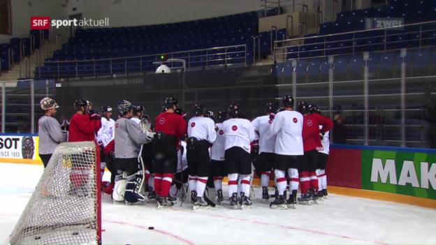 Video «Die Hockey-Nati vor dem 1. WM-Spiel» abspielen