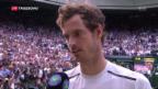 Video «Tennis: Murray gewinnt Wimbledon-Finale» abspielen