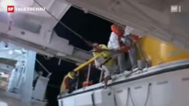 Video «Costa Concordia: Video zeigt verwirrten Schettino» abspielen