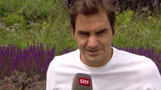 Video «Rückblick und Ausblick in Wimbledon mit Roger Federer» abspielen