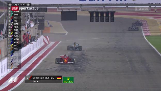 Video «Vettel triumphiert in Bahrain» abspielen