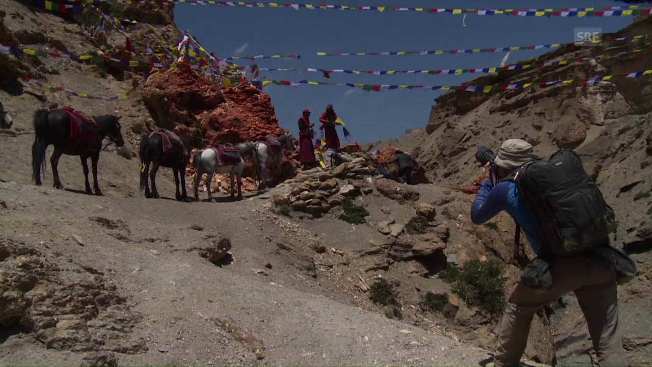 Gebetsfahnen in Mustang