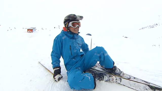 Annina Frey beim Freeski