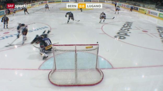 Video «Eishockey: Bern - Lugano» abspielen