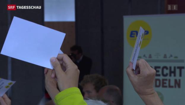 Video «EVP-Delegierte beschliessen dreifaches Nein» abspielen