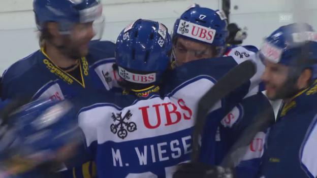 Video «Eishockey: Spengler-Cup, 5:4 Lindgren» abspielen
