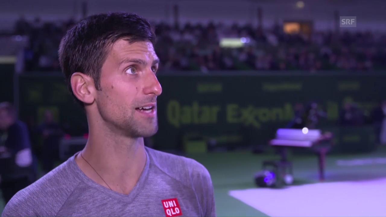 Djokovic: «Andy gibt nie auf» (engl.) (sntv)
