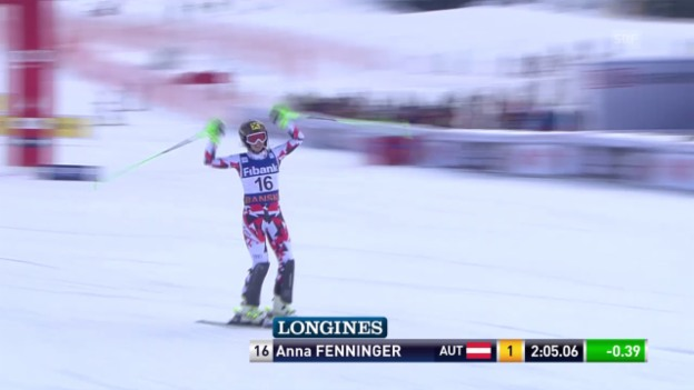 Video «Ski Alpin: Super-Kombination Bansko, Slalomlauf Fenninger» abspielen