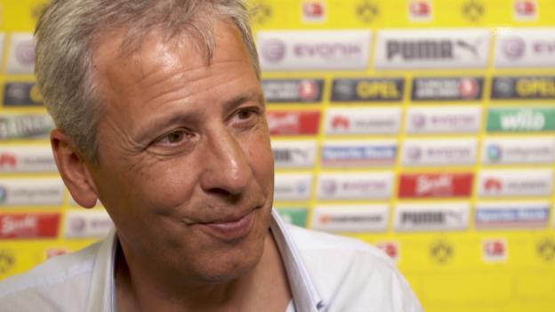 Video «Fussball: Bundesliga, Interview Lucien Favre» abspielen