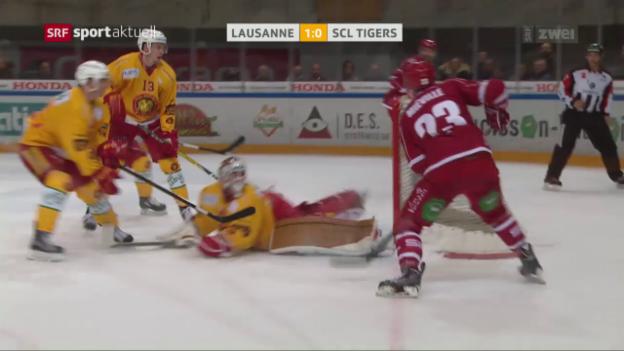 Video «Eishockey: NLA, Lausanne - SCL Tigers» abspielen