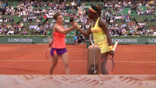 Video «Tennis: French Open, Halep-Stephens, Satz- und Matchbälle» abspielen