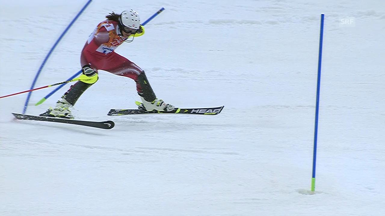 Ski alpin: Der Ausfall von Wendy Holdener (sotschi direkt, 21.02.2014)