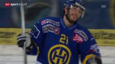 Video «Eishockey: 46. NLA-Runde, Zusammenfassung Davos - Ambri-Piotta (aus «sportaktuell»)» abspielen