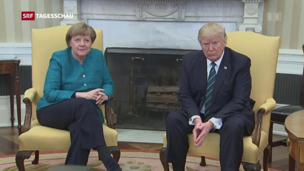 Video «Angela Merkel zu Gast bei Donald Trump» abspielen