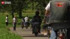 Video «Döffli-Gäng Sissach: Die wohl älltesten Töfflibuben der Schweiz» abspielen