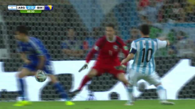 Video «FIFA WM 2014: Messi trifft gegen Bosnien» abspielen