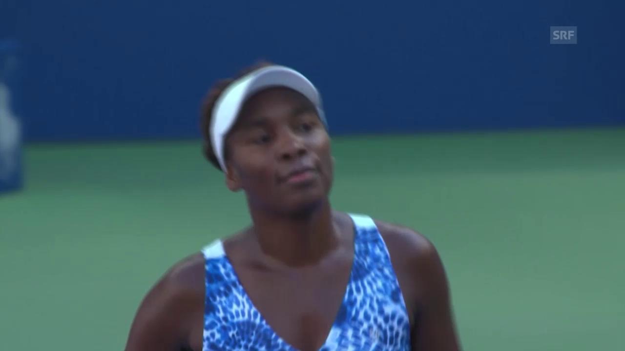 Tennis: US Open 2015, Frauen, Achtelfinal, Venus Williams - Anett Kontaveit