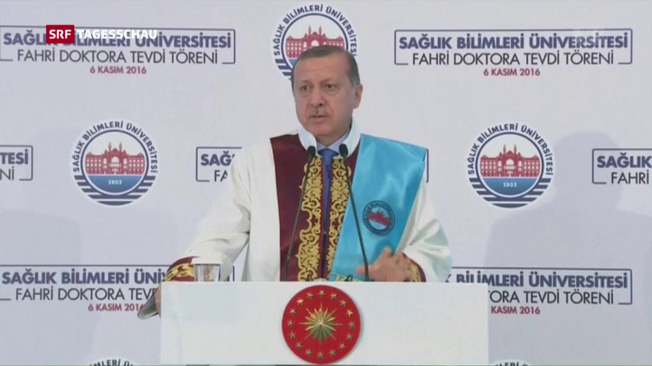 Präsident Erdogan kümmert die Kritik an seiner Politik wenig