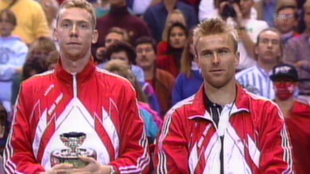 Video «Tennis: Davis Cup, Final gegen die USA 1992» abspielen