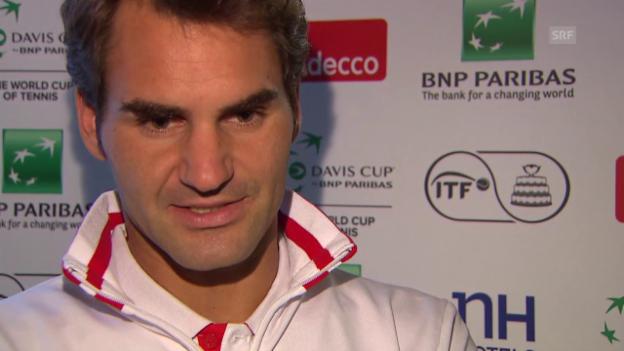 Video «Tennis: Davis Cup, Interview Federer» abspielen
