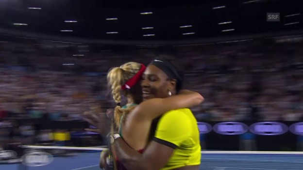 Video «Faire Williams gratuliert Kerber» abspielen