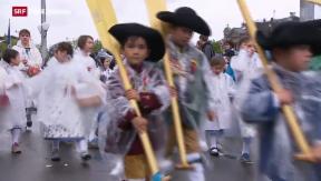 Video «Nasse Füsse am Sechseläuten-Kinderumzug» abspielen