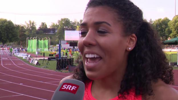 Video «Leichtathletik: Luzern, Interview mit Mujinga Kambundji» abspielen