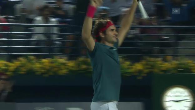 Video «Tennis: ATP Dubai, Highlights Roger Federer - Tomas Berdych («sportlive», 01.03.2014)» abspielen