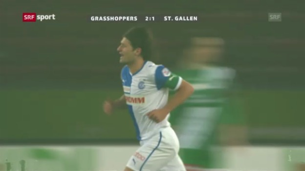 Video «SL: Grasshoppers - St. Gallen» abspielen