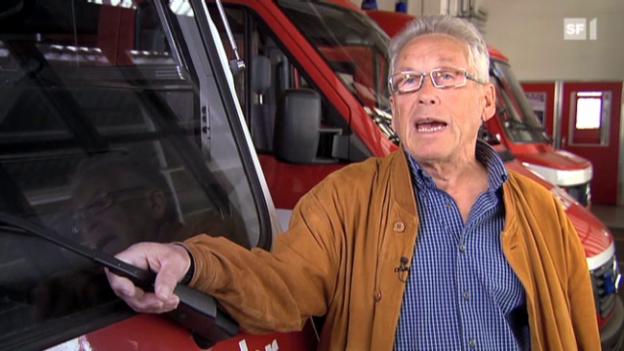 Video «Werner Kaupp, ehemaliger Kommandant Werkfeuerwehr» abspielen