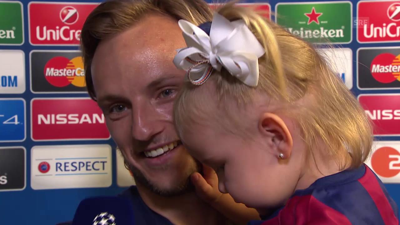 Fussball: Champions-League-Final 2015, Barcelona - Juventus Turin, Interview mit Ivan Rakitic