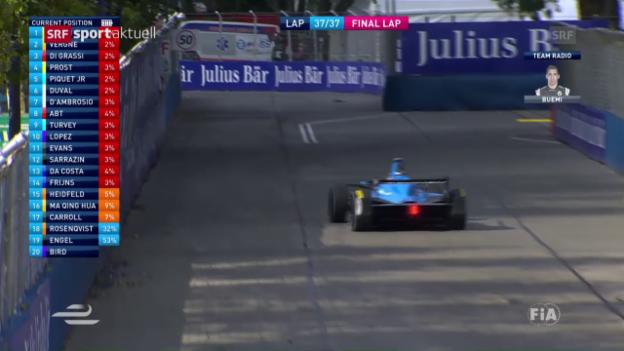 Video «Buemi mit 3. Sieg im 3. Rennen» abspielen