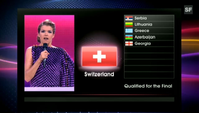 Anke Engelke verkündet den 6. Finalteilnehmer
