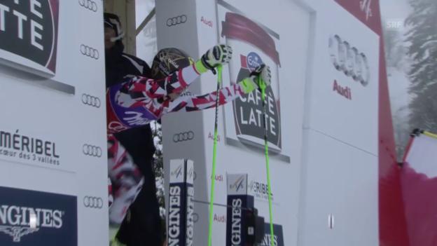Video «Ski: Frauen-Riesenslalom in Méribel, Siegesfahrt von Fenninger» abspielen