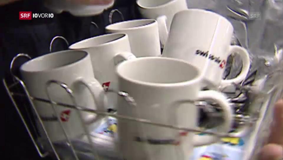 Besteck, Tassen, Tücher – alles wird verkauft