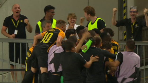 Video «Nach Joker-Tor: YB bezwingt Dynamo Kiew mit 2:0» abspielen