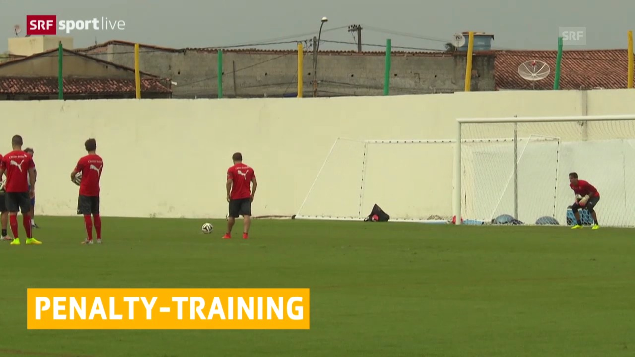 FIFA WM 2014: Nati trainierte Penaltys