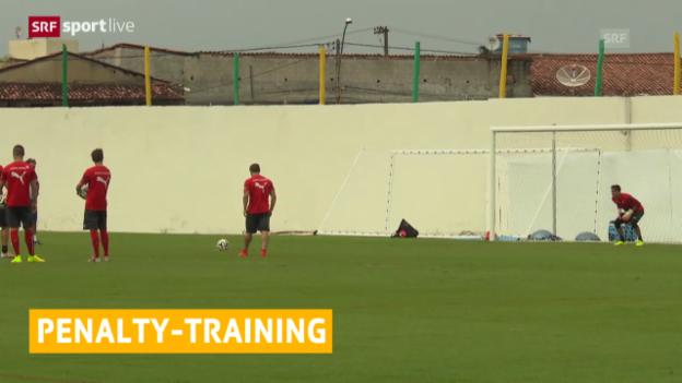 Video «FIFA WM 2014: Nati trainierte Penaltys» abspielen