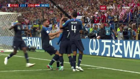 Link öffnet eine Lightbox. Video Live-Highlights Frankreich - Kroatien abspielen