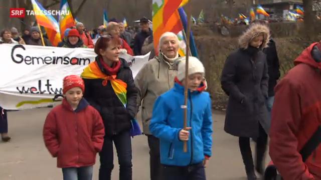 Marschieren ist keine Frage des Alters (Tagesschau, 1.04.2013)