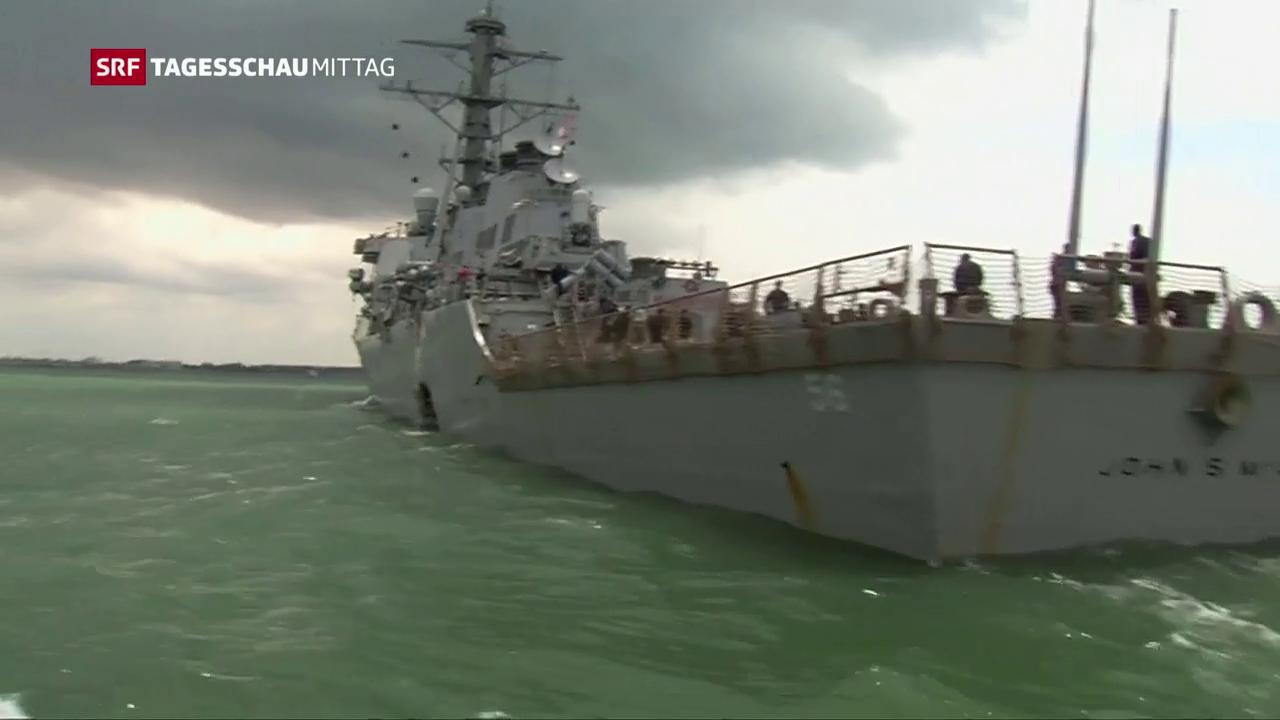 US-Kriegsschiff kollidiert mit Tanker