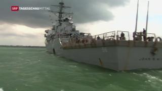 Video «US-Kriegsschiff kollidiert mit Tanker» abspielen