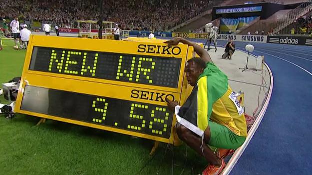 Video «9,58: Bolts Fabelweltrekord über 100 m in Berlin» abspielen