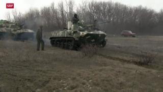 Video «Ukraine und Russland demonstrieren Militärpräsenz» abspielen