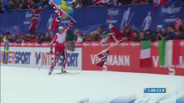 Staffel-Rennen Frauen: Zieleinlauf Marit Björgen («sportlive»)