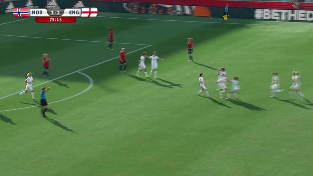 Fussball: Frauen-WM, Achtelfinal, Norwegen-England, 1:2 Bronze