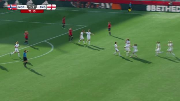 Video «Fussball: Frauen-WM, Achtelfinal, Norwegen-England, 1:2 Bronze» abspielen