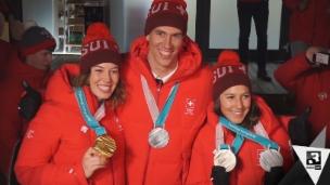 Video «Unsere Ski-Cracks holen einen ganzen Medaillensatz» abspielen